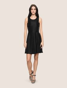 ARMANI EXCHANGE METALLIC SCOOPED-ARM FIT-AND-FLARE Mini dress Woman d
