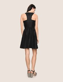 ARMANI EXCHANGE METALLIC SCOOPED-ARM FIT-AND-FLARE Mini dress Woman e