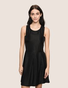 ARMANI EXCHANGE METALLIC SCOOPED-ARM FIT-AND-FLARE Mini dress Woman f