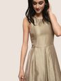 ARMANI EXCHANGE METALLIC SCOOPED-ARM FIT-AND-FLARE Mini dress Woman a