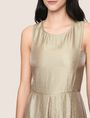 ARMANI EXCHANGE METALLIC SCOOPED-ARM FIT-AND-FLARE Mini dress Woman b