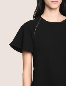 ARMANI EXCHANGE FLUTTER-SLEEVE EYELET TEE DRESS Mini dress Woman b