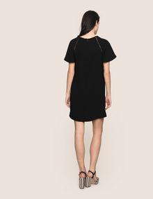 ARMANI EXCHANGE FLUTTER-SLEEVE EYELET TEE DRESS Mini dress Woman e