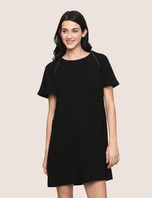 ARMANI EXCHANGE FLUTTER-SLEEVE EYELET TEE DRESS Mini dress Woman f