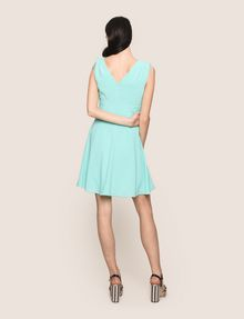 ARMANI EXCHANGE RUCHED DETAIL FIT-AND-FLARE Mini dress Woman e