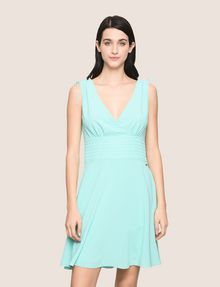 ARMANI EXCHANGE RUCHED DETAIL FIT-AND-FLARE Mini dress Woman f