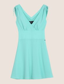 ARMANI EXCHANGE RUCHED DETAIL FIT-AND-FLARE Mini dress Woman r