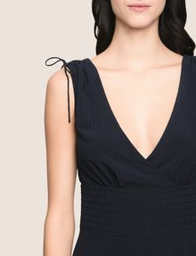 ARMANI EXCHANGE RUCHED DETAIL FIT-AND-FLARE Mini dress Woman b