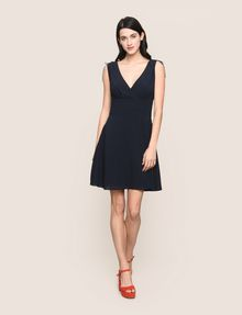 ARMANI EXCHANGE RUCHED DETAIL FIT-AND-FLARE Mini dress Woman d