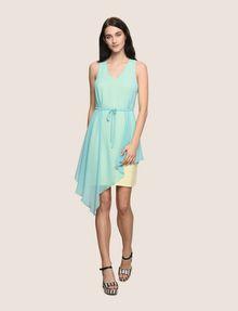 ARMANI EXCHANGE ASYMMETRICAL OVERLAY TANK DRESS Mini dress Woman d