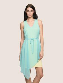 ARMANI EXCHANGE ASYMMETRICAL OVERLAY TANK DRESS Mini dress Woman f