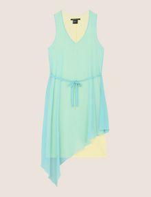 ARMANI EXCHANGE ASYMMETRICAL OVERLAY TANK DRESS Mini dress Woman r