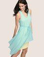 ARMANI EXCHANGE ASYMMETRICAL OVERLAY TANK DRESS Mini dress Woman a
