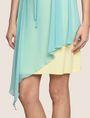 ARMANI EXCHANGE ASYMMETRICAL OVERLAY TANK DRESS Mini dress Woman b