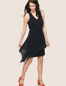 ARMANI EXCHANGE ASYMMETRICAL OVERLAY TANK DRESS Mini dress Woman a