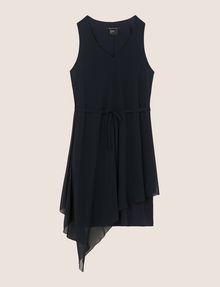 ARMANI EXCHANGE ASYMMETRICAL OVERLAY TANK DRESS Mini dress Woman r