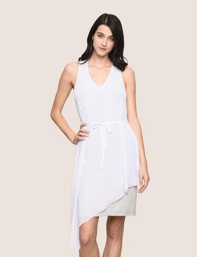 ASYMMETRICAL OVERLAY TANK DRESS