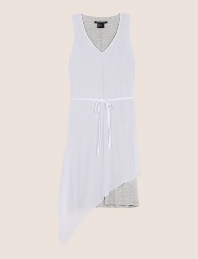 ASYMMETRICAL OVERLAY TANK DRESS