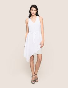 ARMANI EXCHANGE ASYMMETRICAL OVERLAY TANK DRESS Mini dress Woman d