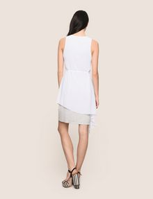 ARMANI EXCHANGE ASYMMETRICAL OVERLAY TANK DRESS Mini dress Woman e
