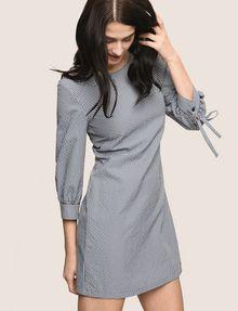 ARMANI EXCHANGE TIE-SLEEVE GINGHAM SEERSUCKER DRESS Mini dress Woman a