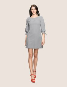 ARMANI EXCHANGE TIE-SLEEVE GINGHAM SEERSUCKER DRESS Mini dress Woman d