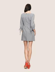 ARMANI EXCHANGE TIE-SLEEVE GINGHAM SEERSUCKER DRESS Mini dress Woman e