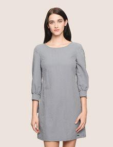 ARMANI EXCHANGE TIE-SLEEVE GINGHAM SEERSUCKER DRESS Mini dress Woman f
