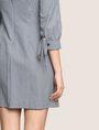 ARMANI EXCHANGE TIE-SLEEVE GINGHAM SEERSUCKER DRESS Mini dress Woman b