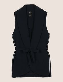 ARMANI EXCHANGE BELTED SHAWL-COLLAR VEST Gilet Woman r
