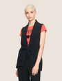 ARMANI EXCHANGE BELTED SHAWL-COLLAR VEST Vest Woman f