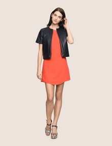 ARMANI EXCHANGE FAUX-LEATHER SHORT-SLEEVE TOPPER PU Woman d