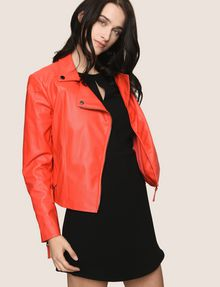 ARMANI EXCHANGE FAUX-LEATHER BIKER JACKET PU [*** pickupInStoreShipping_info ***] a
