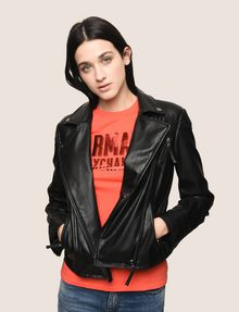 ARMANI EXCHANGE FAUX-LEATHER BIKER JACKET PU Woman a