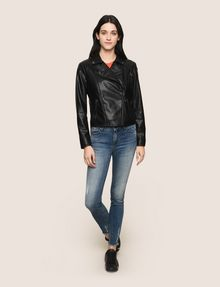ARMANI EXCHANGE FAUX-LEATHER BIKER JACKET PU Woman d
