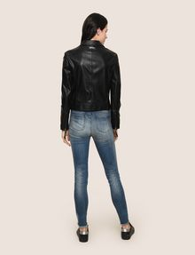 ARMANI EXCHANGE FAUX-LEATHER BIKER JACKET PU Woman e