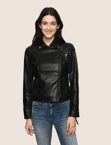 ARMANI EXCHANGE FAUX-LEATHER BIKER JACKET PU Woman f
