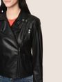 ARMANI EXCHANGE FAUX-LEATHER BIKER JACKET PU Woman b