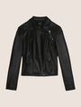 ARMANI EXCHANGE FAUX-LEATHER BIKER JACKET PU Woman r