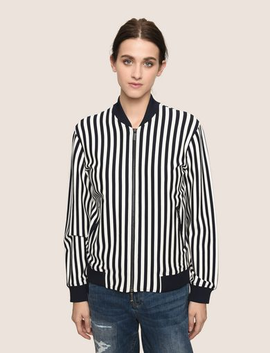 BOLD STRIPE BOMBER JACKET