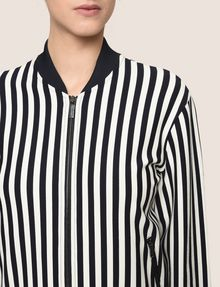 ARMANI EXCHANGE BOLD STRIPE BOMBER JACKET Jacket Woman b