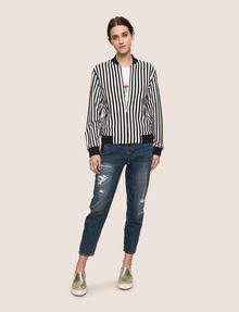 ARMANI EXCHANGE BOLD STRIPE BOMBER JACKET Jacket Woman d