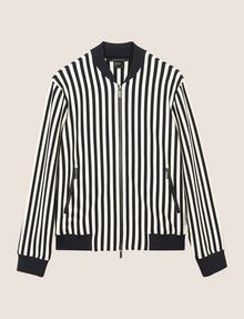 ARMANI EXCHANGE BOLD STRIPE BOMBER JACKET Jacket Woman r