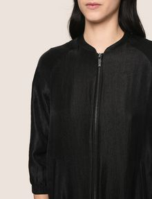 ARMANI EXCHANGE METALLIC LONGLINE BOMBER JACKET Jacket Woman b