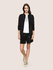 ARMANI EXCHANGE METALLIC LONGLINE BOMBER JACKET Jacket [*** pickupInStoreShipping_info ***] d