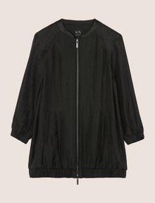 ARMANI EXCHANGE METALLIC LONGLINE BOMBER JACKET Jacket Woman r