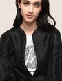 ARMANI EXCHANGE METALLIC LONGLINE BOMBER JACKET Jacket Woman a