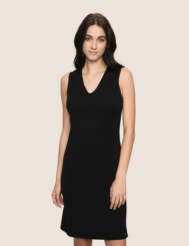 SEAMED V-NECK SHEATH