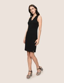 ARMANI EXCHANGE SEAMED V-NECK SHEATH Mini dress Woman d