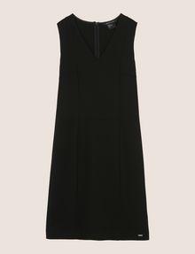 ARMANI EXCHANGE SEAMED V-NECK SHEATH Mini dress Woman r